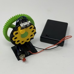 Image0000a.JPG Télécharger fichier STL gratuit Minuterie électro-mécanique à disque cycloïdal. • Objet pour impression 3D, gzumwalt