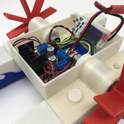 IMG_0831.jpg Download free STL file WiFi Paddle Boat • 3D printing design, gzumwalt