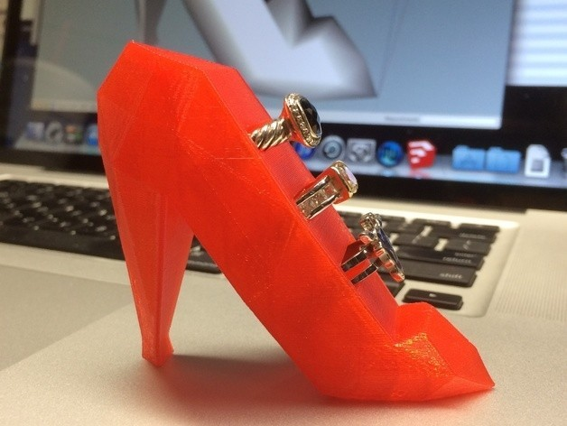 Slipper_2_preview_featured.jpg Download free STL file Ruby Red Ring Holder Slipper • 3D print template, gzumwalt