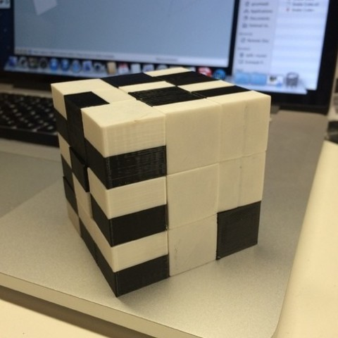 objet 3d gratuit Cube de serpent, imprimé, entièrement assemblé et prêt à être résolu., gzumwalt