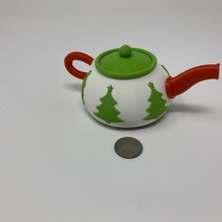 Download free 3D printer templates Robotic Christmas Teapot, gzumwalt