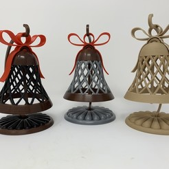 Download free 3D printer designs Bell Ornament With Stand, gzumwalt