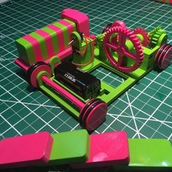Download free 3D printing models The Pink and Green Domino Machine, gzumwalt