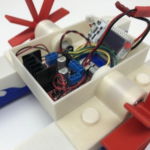 IMG_0832.jpg Download free STL file WiFi Paddle Boat • 3D printing design, gzumwalt