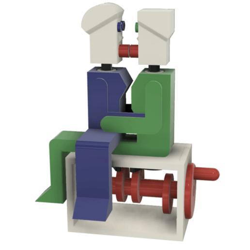 """Image0000z.png Télécharger fichier STL gratuit """"Lora et moi"""", un simple automate imprimé en 3D. • Plan à imprimer en 3D, gzumwalt"""
