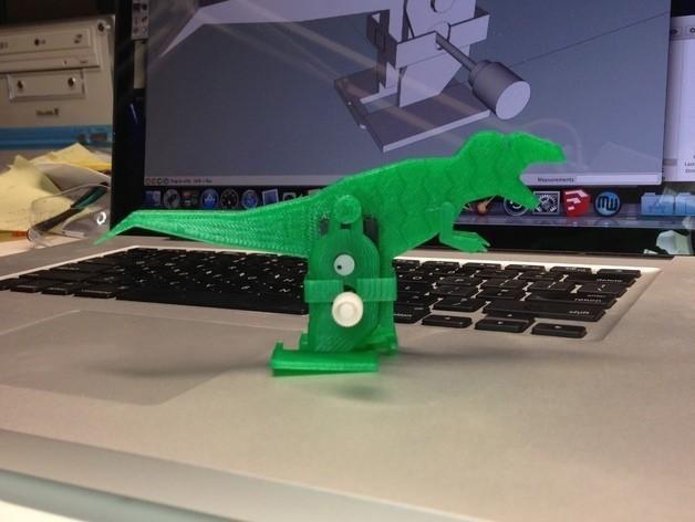 T-Rex_Windup_Walker_Green_preview_featured.jpg Download free STL file T-Rex Windup Walker • 3D printer model, gzumwalt