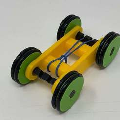 Download free 3D printing models Designing a Simple 3D Printed Rubber Band Car Using Autodesk Fusion 360, gzumwalt
