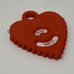Imprimir en 3D gratis Colgante de mensaje de corazón engranado., gzumwalt