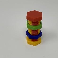 """Image0000a.JPG Télécharger fichier STL gratuit La """"boîte à boulons"""", un puzzle en 3D simple à imprimer mais difficile à résoudre • Modèle imprimable en 3D, gzumwalt"""
