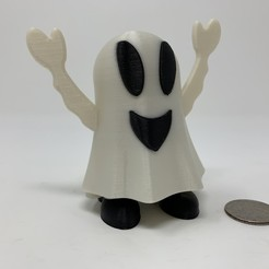 Download free STL files Halloween Happy Ghost Pin Walker., gzumwalt