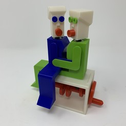 "Download free 3D printer files ""Lora and I"", a Simple 3D Printed Automaton., gzumwalt"