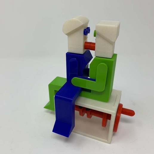 """Image0004g.JPG Télécharger fichier STL gratuit """"Lora et moi"""", un simple automate imprimé en 3D. • Plan à imprimer en 3D, gzumwalt"""