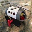 Download free 3D printer templates PLA Spring Motor Windup Helicopter, gzumwalt
