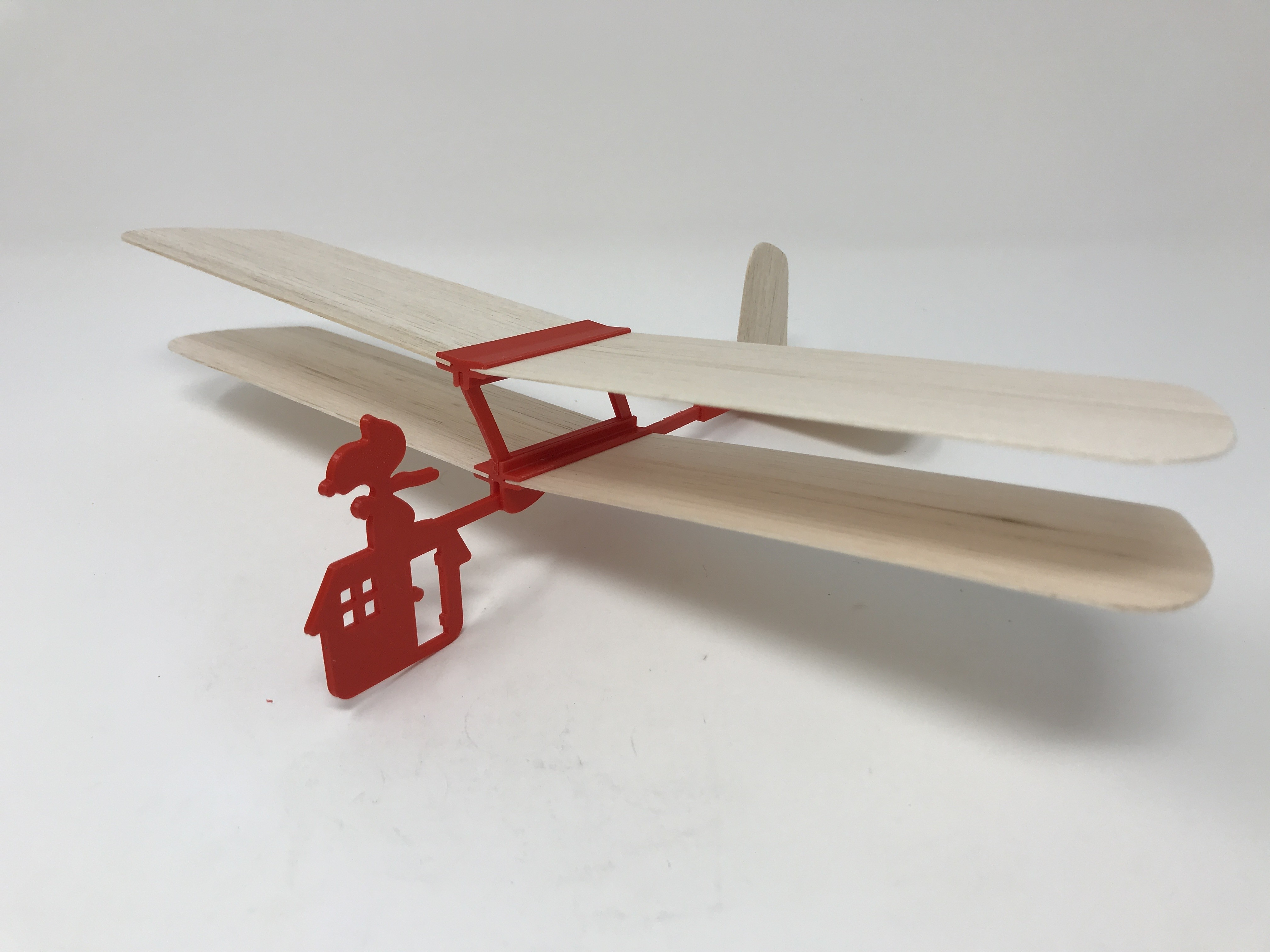 Image0021.jpg Download free STL file Red Baron II: Hand Launched Biplane Glider • 3D printable object, gzumwalt