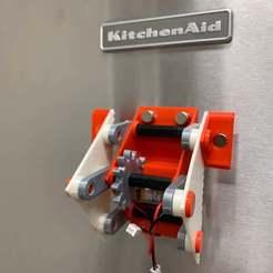 Image0000aSmall.jpg Télécharger fichier STL gratuit Rouleur de réfrigérateur • Objet pour impression 3D, gzumwalt