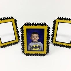 """Télécharger plan imprimante 3D gatuit Cadre photo à thème """"Batman"""", gzumwalt"""