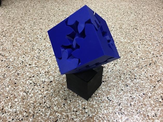 cf371967071bb5c609b86371a9c369c4_preview_featured.JPG Télécharger fichier STL gratuit Grand cube à engrenages, édition motorisée • Plan imprimable en 3D, gzumwalt