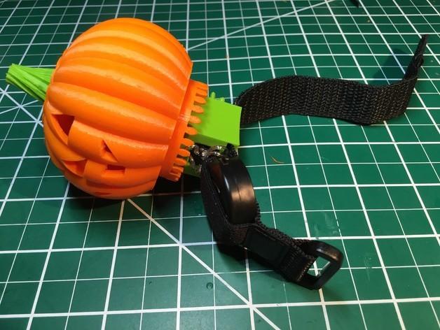 843511dbd7f5e0d6a48dc2d641482d21_preview_featured.JPG Download free STL file Lighted Motorized Halloween Pumpkin Bracelet • Object to 3D print, gzumwalt