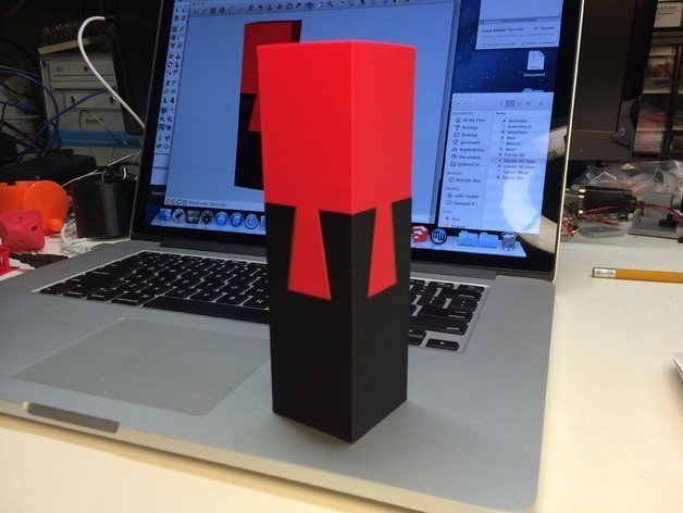 """Tall_preview_featured.jpg Download free STL file The """"Impossible Dovetail"""" in cube and tall form, 3D printed in PLA • Object to 3D print, gzumwalt"""
