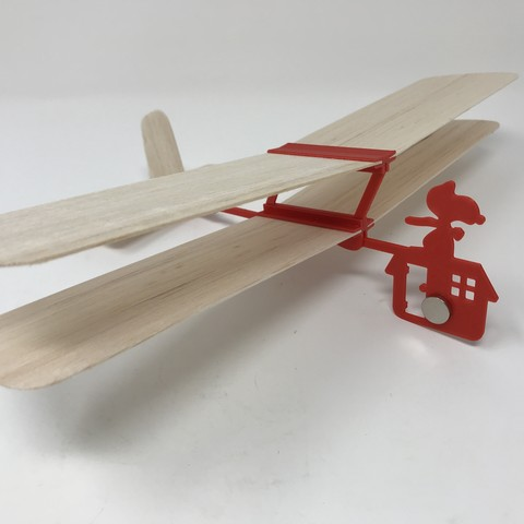 Image0000.jpg Download free STL file Red Baron II: Hand Launched Biplane Glider • 3D printable object, gzumwalt