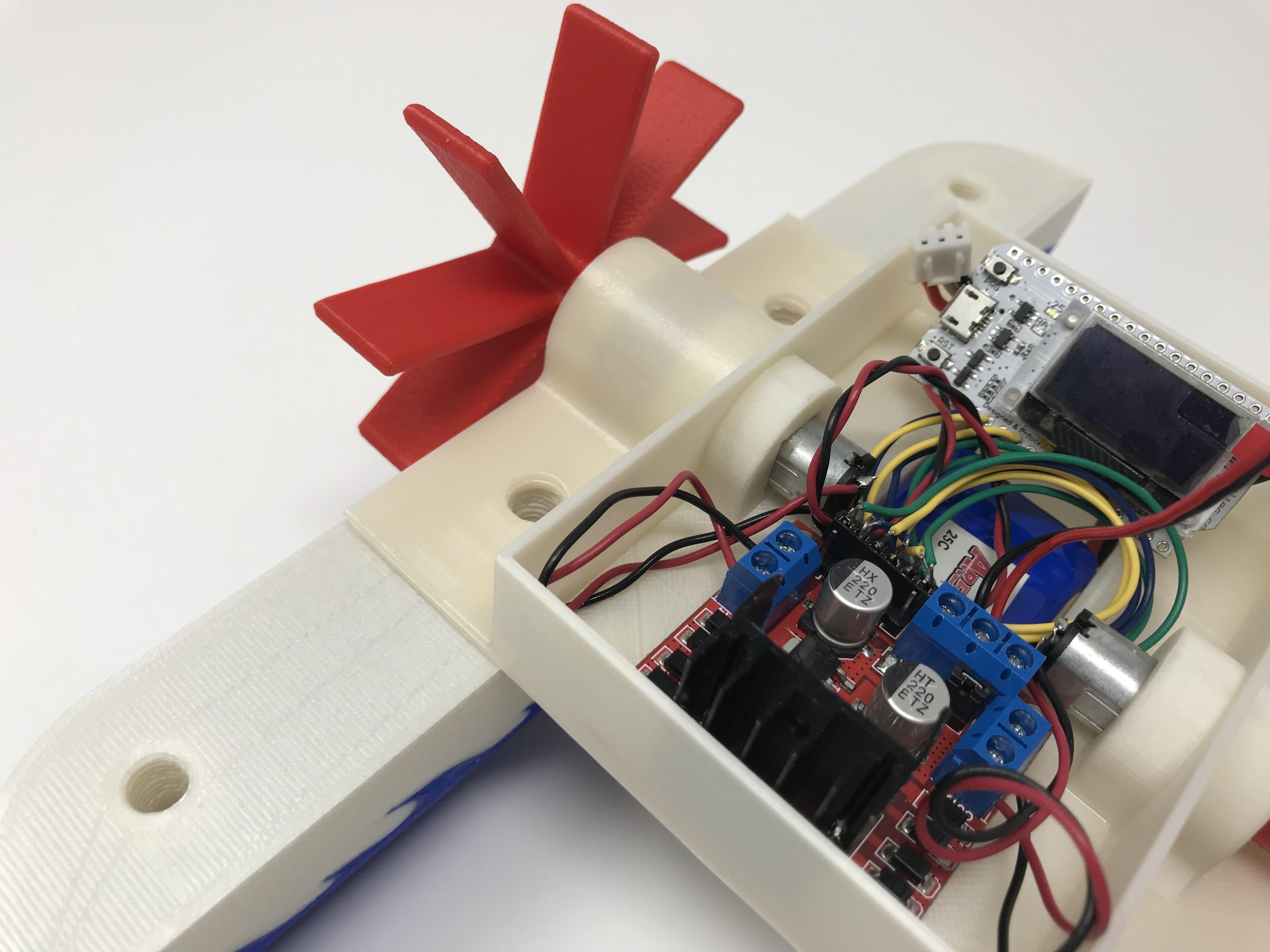 IMG_0827.jpg Download free STL file WiFi Paddle Boat • 3D printing design, gzumwalt
