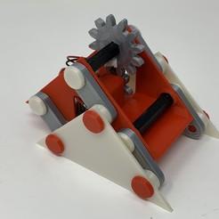 """Image0000a.jpg Télécharger fichier STL gratuit Un mécanisme de """"marche"""" simple imprimé en 3D. • Design pour imprimante 3D, gzumwalt"""