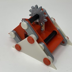 "Image0000a.jpg Download free STL file A 3D Printed Simple ""Walking"" Mechanism. • 3D printer object, gzumwalt"