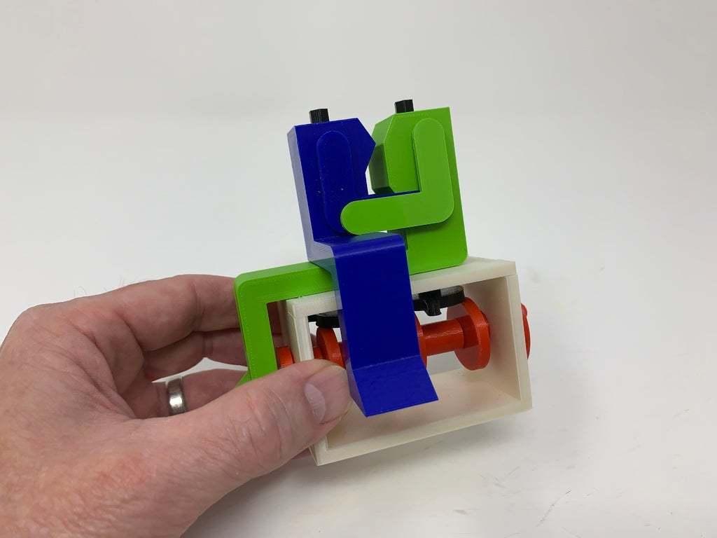 """Image0004d.JPG Télécharger fichier STL gratuit """"Lora et moi"""", un simple automate imprimé en 3D. • Plan à imprimer en 3D, gzumwalt"""