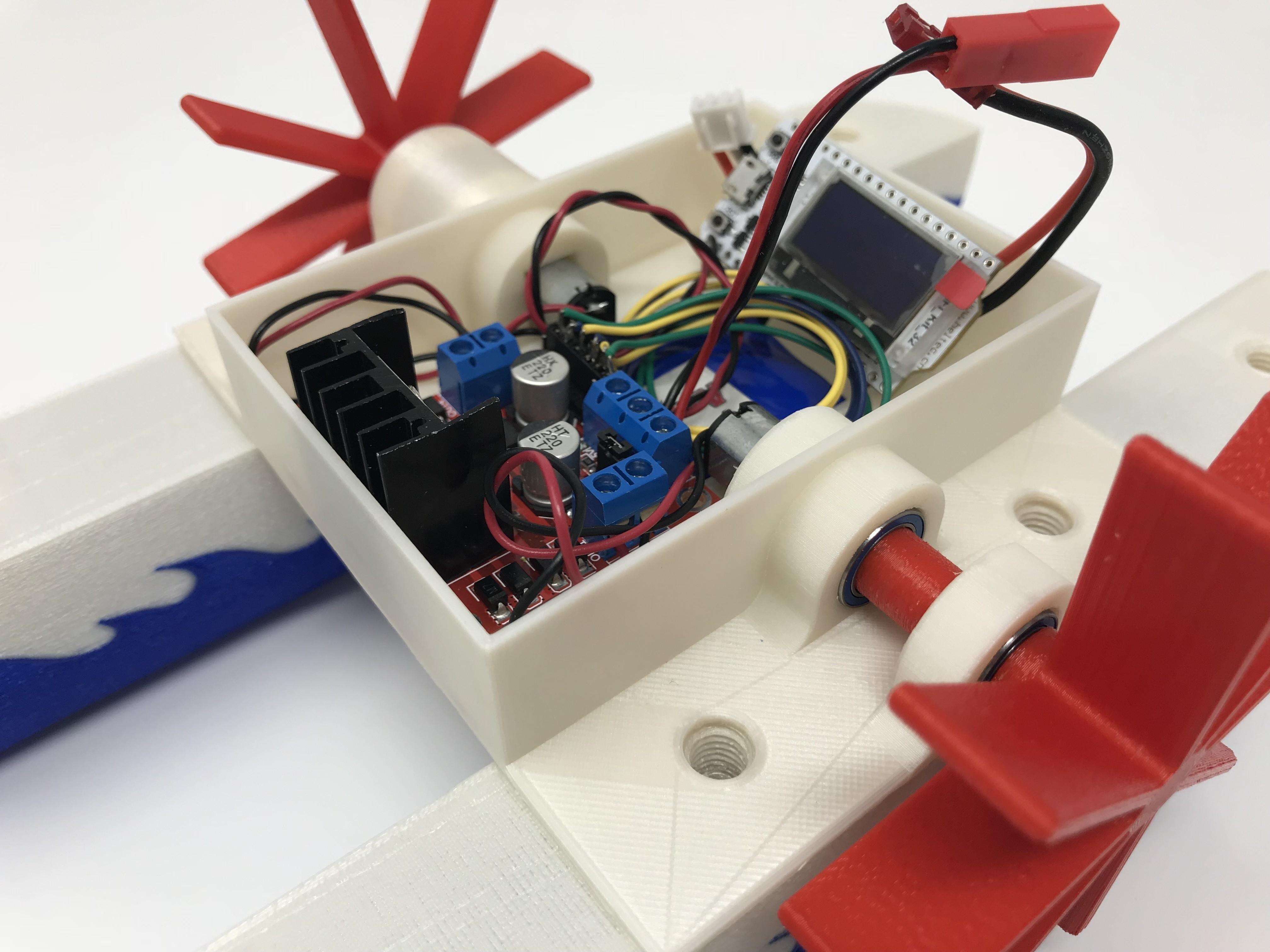 IMG_0829.jpg Download free STL file WiFi Paddle Boat • 3D printing design, gzumwalt