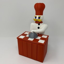 """Descargar STL gratis El """"Magic Chef"""", un autómata impreso en 3D, gzumwalt"""