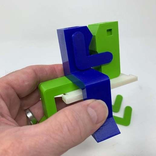 """Image0003d.JPG Télécharger fichier STL gratuit """"Lora et moi"""", un simple automate imprimé en 3D. • Plan à imprimer en 3D, gzumwalt"""
