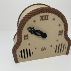 Free 3D printer files 3D Printed Mantel Style Auto Correcting Clock With Chimes and Daylight Savings Time, gzumwalt