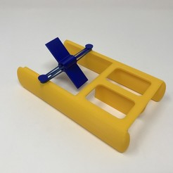Download free STL file Fab Lab Tulsa Paddle Boat, gzumwalt