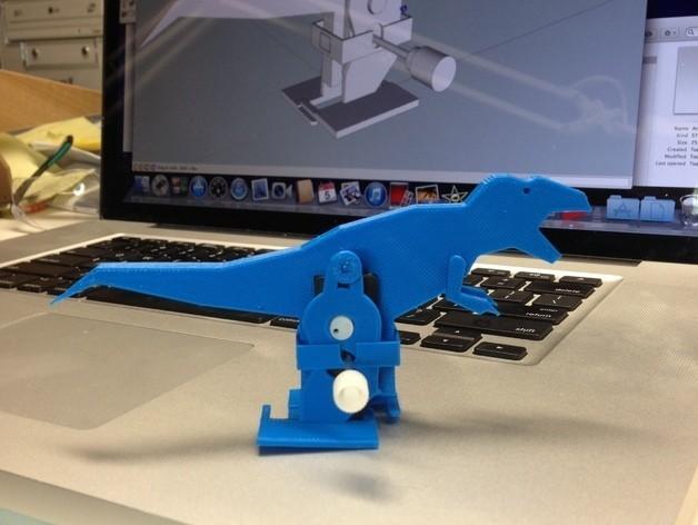 T-Rex_Windup_Walker_preview_featured.jpg Download free STL file T-Rex Windup Walker • 3D printer model, gzumwalt