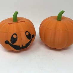 Free 3d printer designs Simple Secret Box IV: Jack O'Lantern Coin Box, gzumwalt