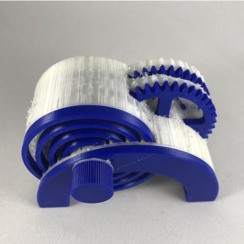 Download free STL files PLA / PVA Spring Motor Demonstrator
