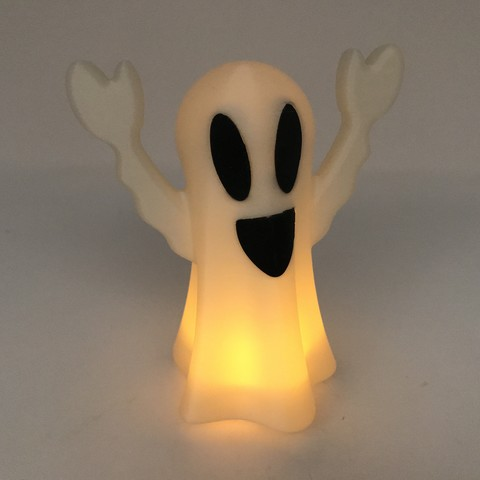 Image0001.jpg Download free STL file Tea Light Ghost Lamp • 3D printable template, gzumwalt