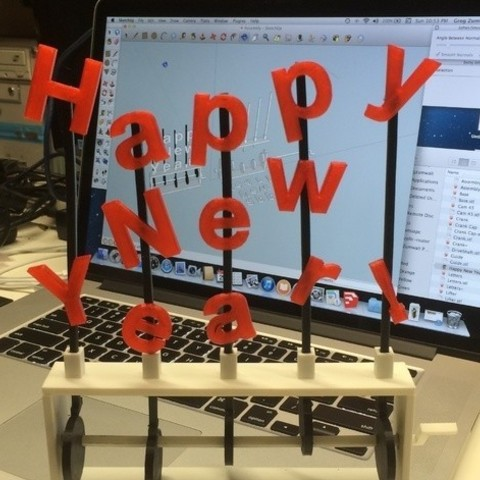 Happy_New_Year_preview_featured.jpg Download free STL file Happy New Year! • 3D print template, gzumwalt