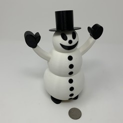 Image0000a.JPG Download free 3MF file Snowman Pin Walker • 3D printing template, gzumwalt