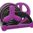 Download free 3D printer designs PLA Spring Motor Demonstrator 2, gzumwalt