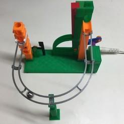 Free 3d printer model Marbelvator, Armed (but not dangerous!), Back On Tracks., gzumwalt