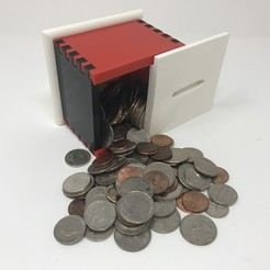 Fichier impression 3D gratuit Simple Secret Box II : Banque de pièces de monnaie., gzumwalt