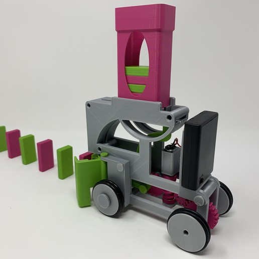 Download free STL file Pink and Green Domino Machine II, gzumwalt