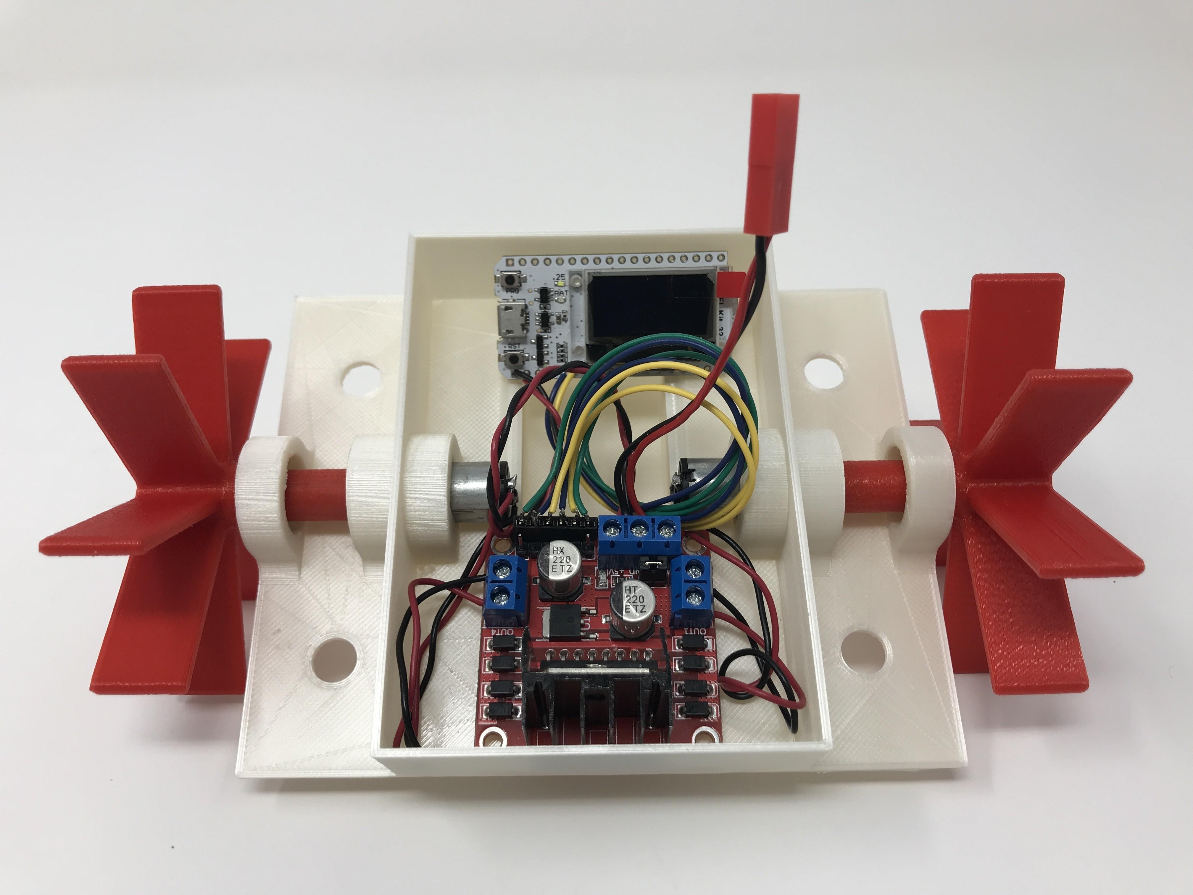 IMG_0804.jpg Download free STL file WiFi Paddle Boat • 3D printing design, gzumwalt