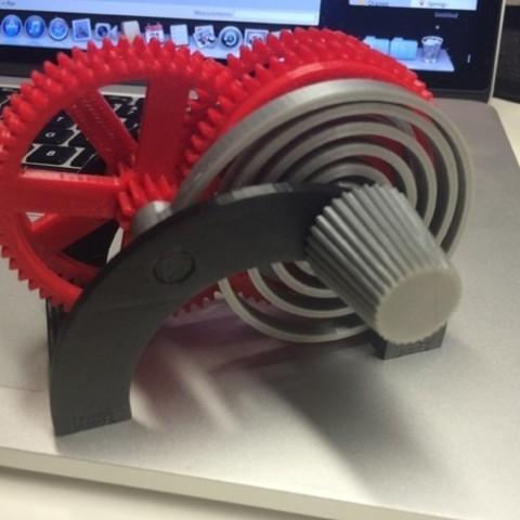 Free STL files PLA Spring Motor Demonstrator, gzumwalt