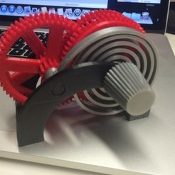 Download free 3D printer templates PLA Spring Motor Demonstrator, gzumwalt