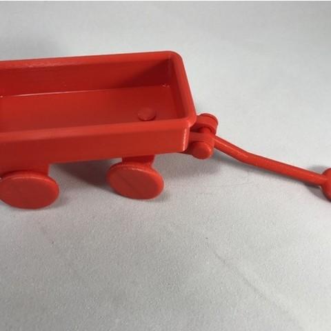 Download free 3D model PLA / PVA Little Red Wagon ・ Cults