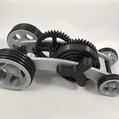 Free 3d printer files Dual Mode Spring Motor Rolling Chassis, gzumwalt