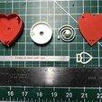 Imprimir en 3D gratis Mensaje de San Valentín para el corazón, gzumwalt