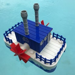 Free 3D printer designs WiFi Paddle Boat, gzumwalt